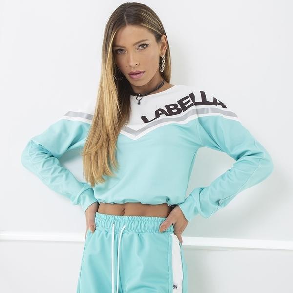 Labella Mikina Turquoise/White - M, M - 1