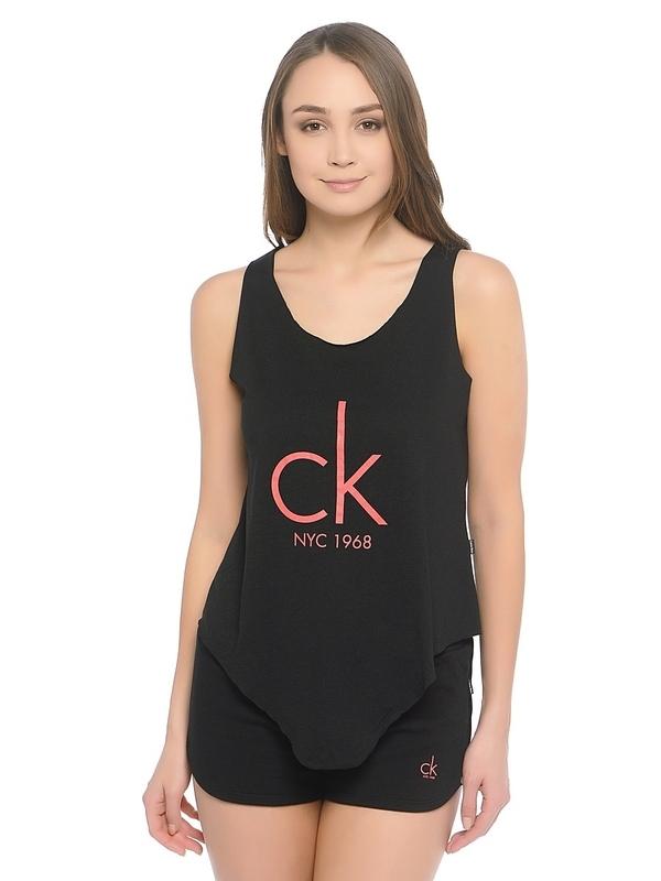 Calvin Klein Tílko Knotted Černé - M, M - 1