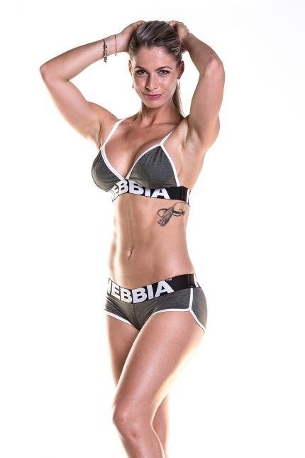 Nebbia Fitness Podprsenka 267 Khaki - S, S - 1