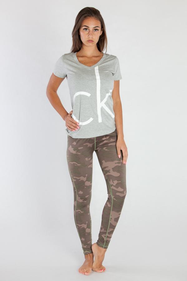 Calvin Klein Dámské Tričko Šedé CK - L, L - 1