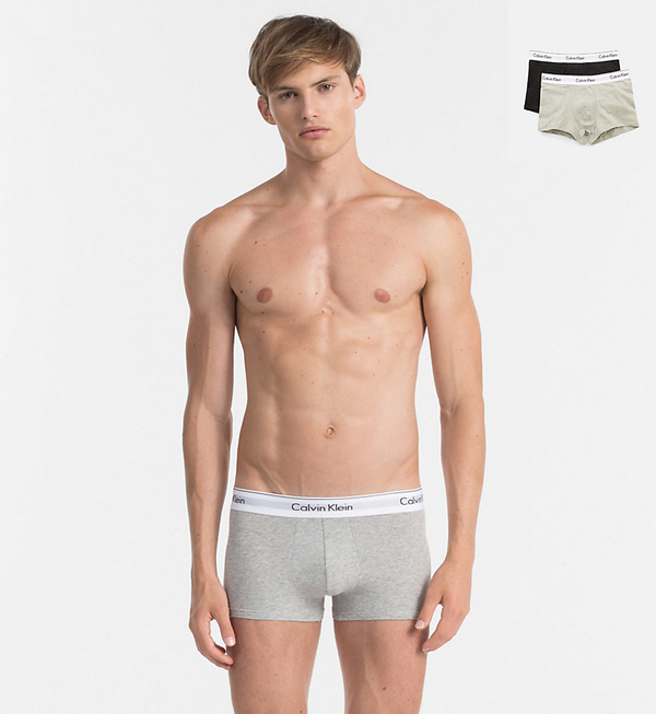Calvin Klein 2Pack Boxerky Black And Grey - S, S - 1