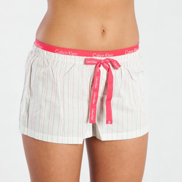Calvin Klein Kraťásky Current Stripe Pink - S, S - 1