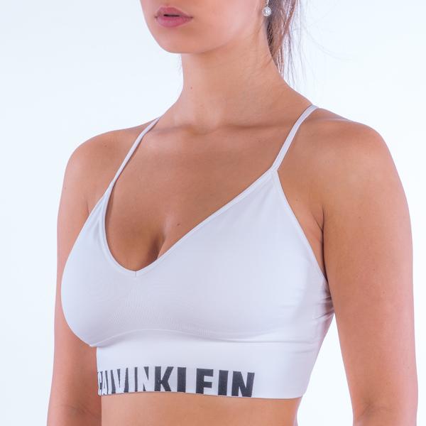 Calvin Klein Podprsenka Longline White - L, L - 1