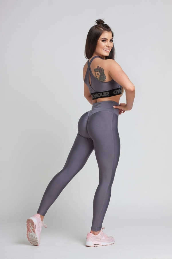 Gym Glamour Legíny High Waist Granite - M, M - 1
