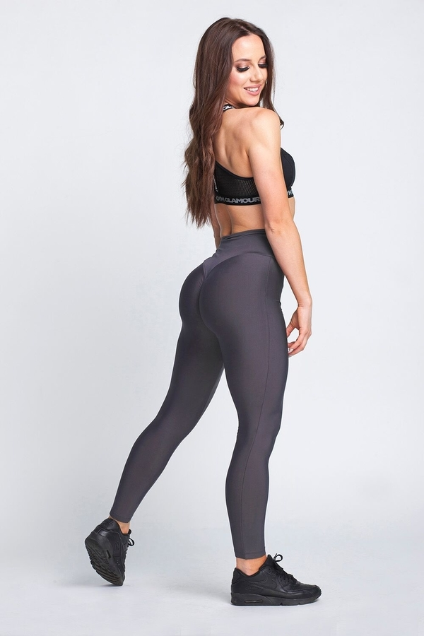 Gym Glamour Legíny High Waist Dark Grey - L, L - 1