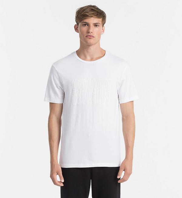 Calvin Klein Pánské Tričko S Nápisem Bílé - S, S - 1