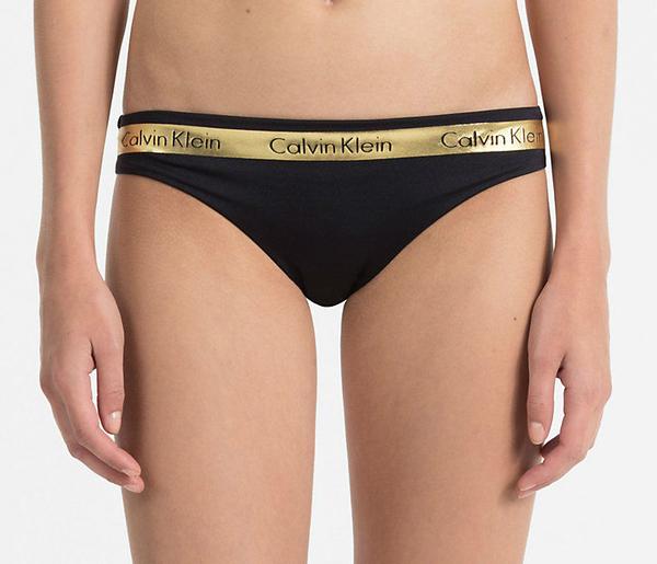 Calvin Klein Plavky Brazilian Beach Active Black&Gold Spodní Díl - M, M