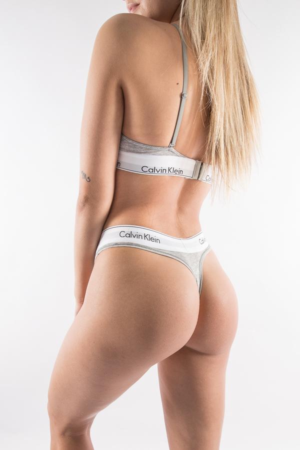Calvin Klein Thong Grey - L, L - 1