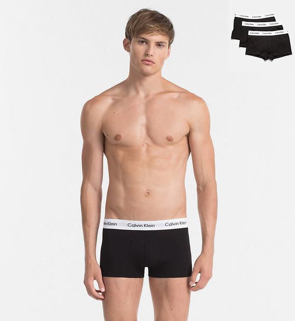 Calvin Klein 3Pack Boxerky Black LR - L, L - 1