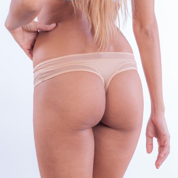 Calvin Klein Tanga Naked Touch Tělové - M, M - 1