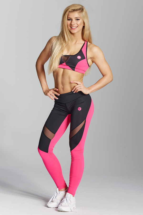 Gym Glamour Legíny Pink Fluo - XS, XS - 1