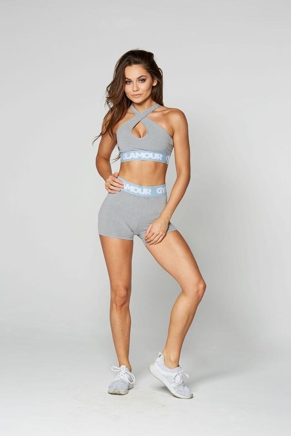 Gym Glamour Shorts Grey, XS - 1
