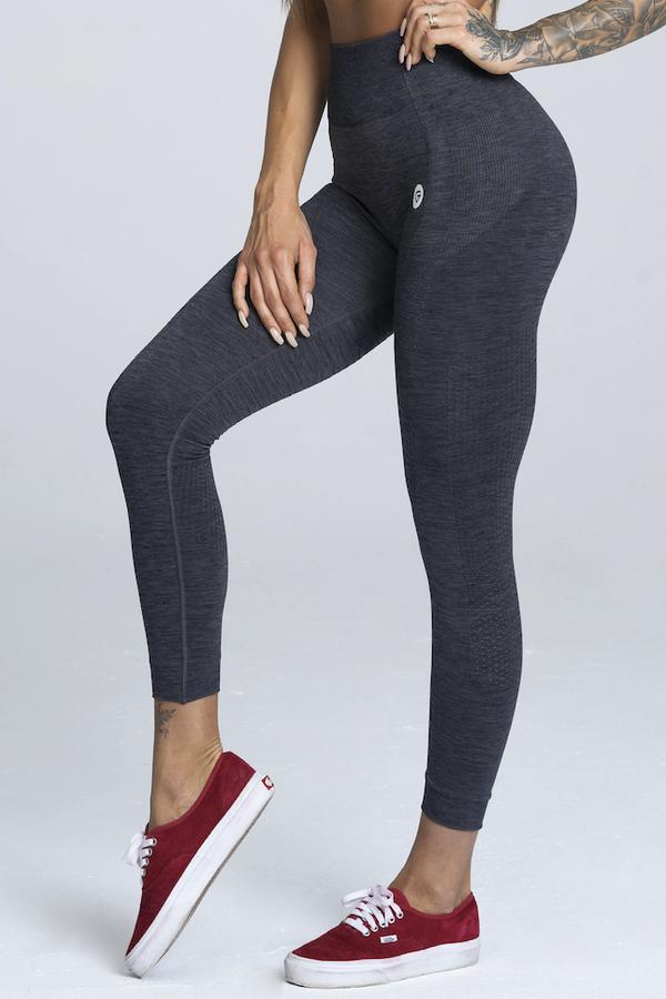 Gym Glamour Legíny Bezešvé Grey Melange - S, S - 1