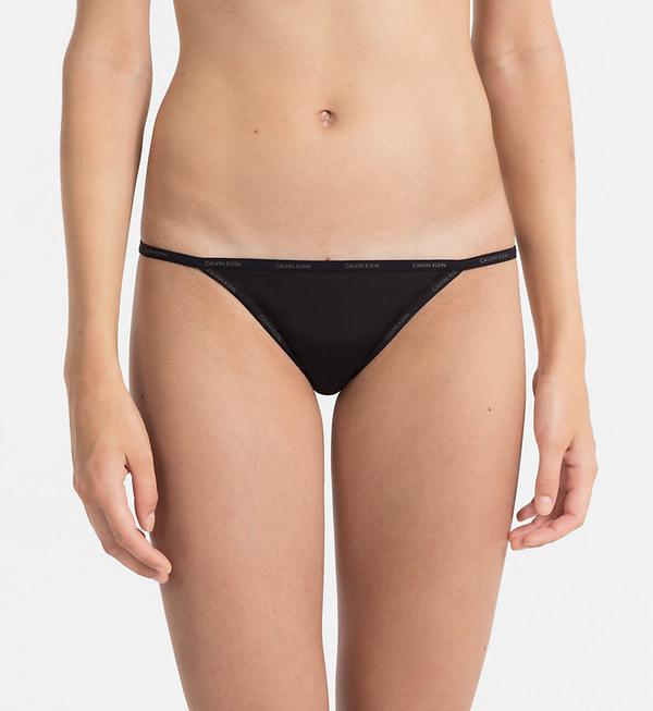 Calvin Klein Kalhotky Sheer Marquisette Black - S, S - 1