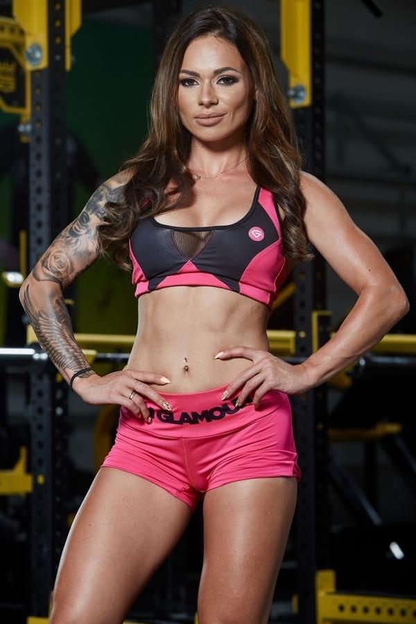 Gym Glamour Podprsenka Pink Fluo - S, S - 1