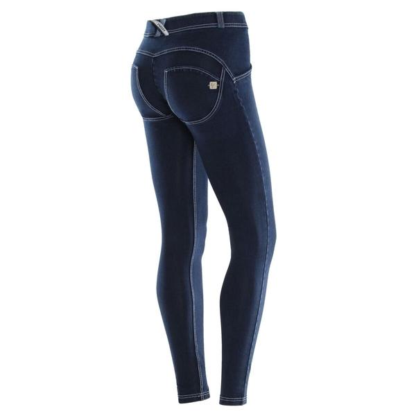 Freddy Jeans Modré S Bílými Švy Normální Pas FW19 - XL, XL - 1