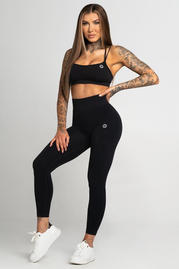 Gym Glamour Legíny Bezešvé Second Skin Black, M - 1