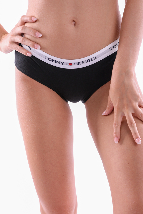 Tommy Hilfiger Shorty Iconic Black - S, S - 1