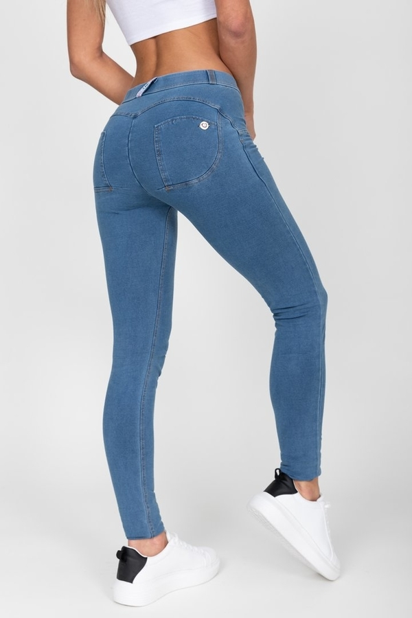 Hugz Light Blue Mid Waist Denim - S, S - 1