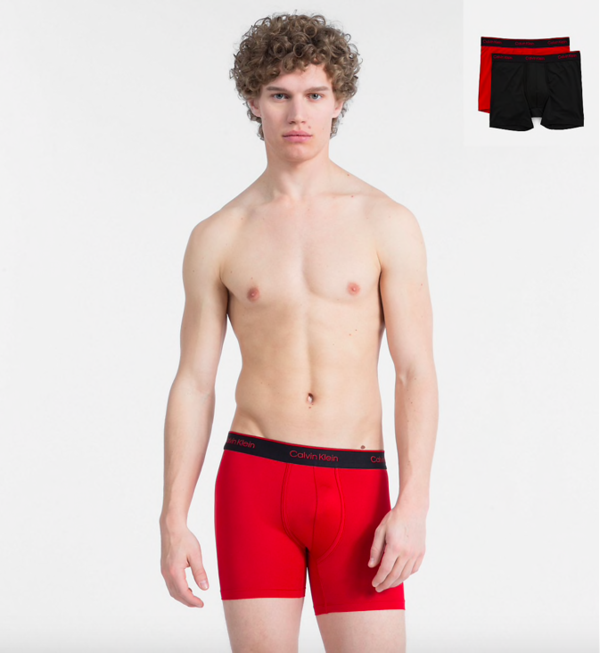 Calvin Klein 2Pack Boxerky Pro Air Red&Black - 1