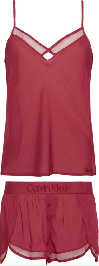 Calvin Klein Dámské Pyžamo Set Bordo - S, S