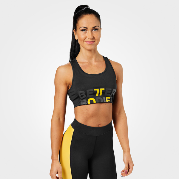 Better Bodies Podprsenka Bowery Sports Black/Yellow - L, L - 1