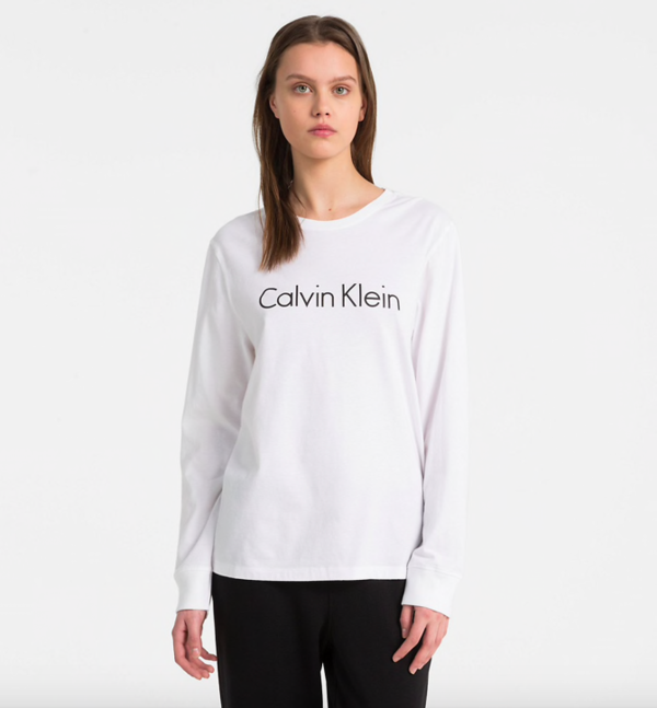Calvin Klein Tričko Logo White - S, S - 1