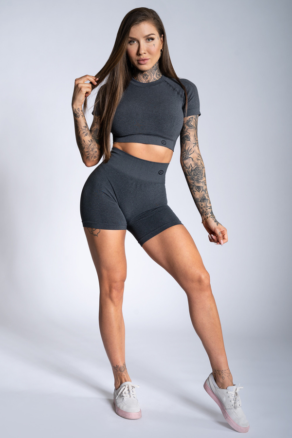 Gym Glamour Shorts Dark Grey Ombre - 1