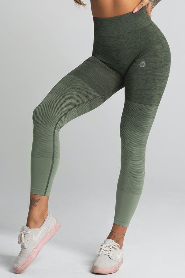 Gym Glamour Leggings Seamless Khaki Ombre - 1