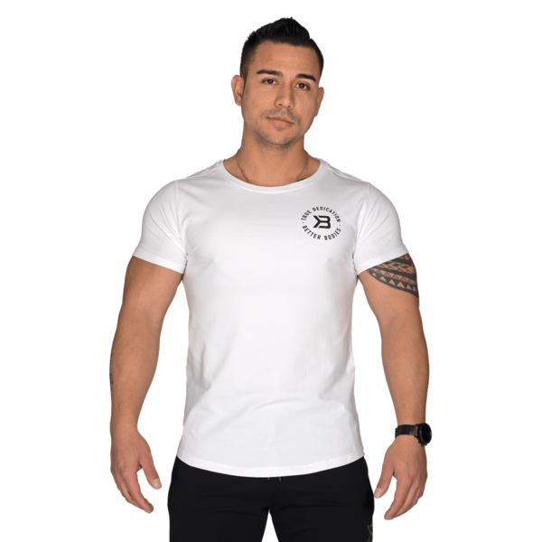 Better Bodies T-shirt Wide Neck Tee White - 1