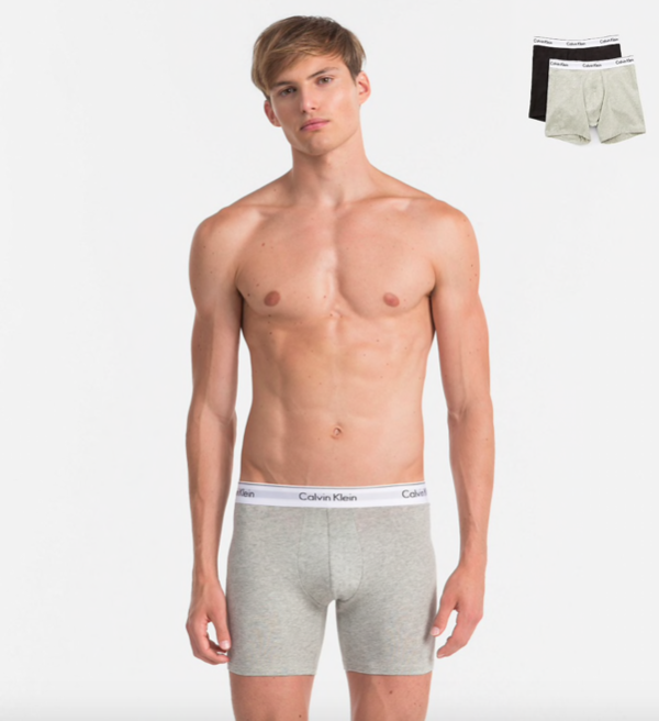 Calvin Klein 2Pack Boxerky Dlouhé Black&Grey - XL, XL - 1