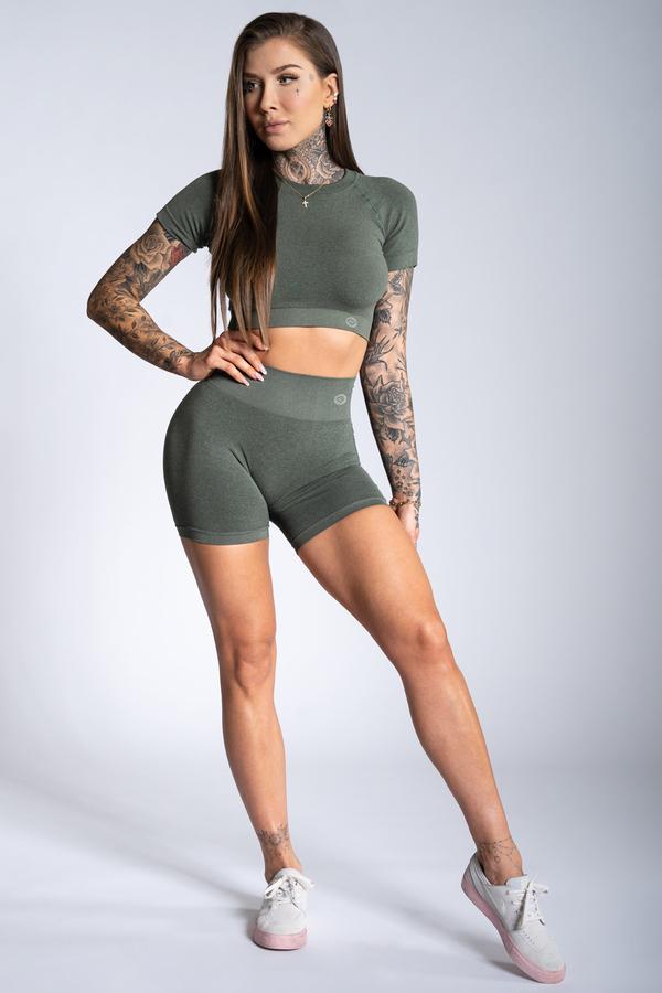 Gym Glamour Shorts Khaki Ombre - 1