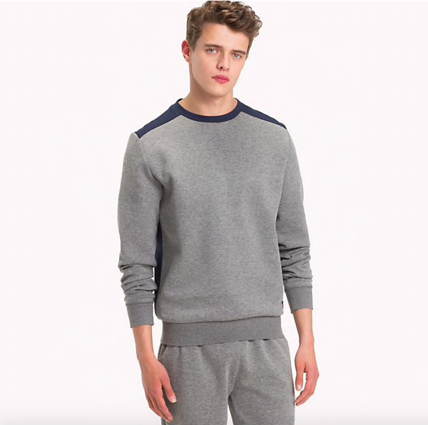 Tommy Hilfiger Mikina Colour Blocked Grey - XL, XL - 1
