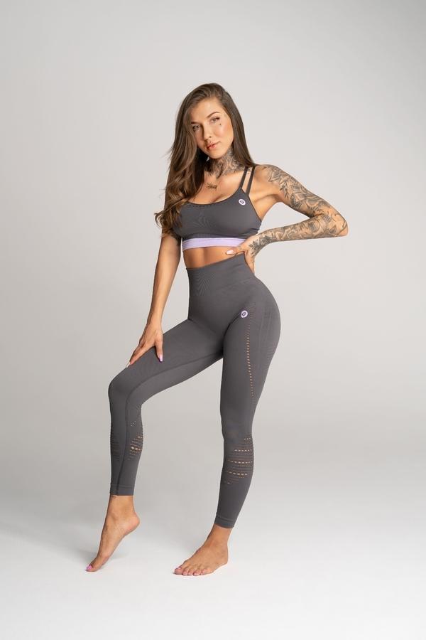 Gym Glamour Legíny Deynn Šedé - L, L - 1