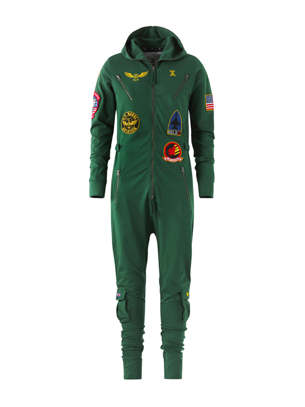 OnePiece Aviator Onesie Jungle Green - XL, XL - 1