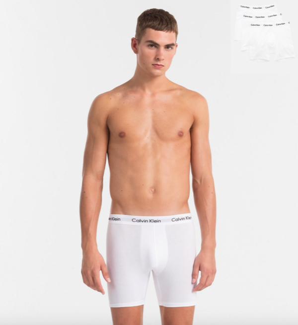 Calvin Klein 3Pack Boxerky Dlouhé Bílé - M, M - 1