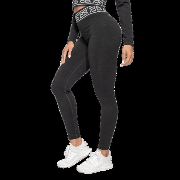 Better Bodies Leggings Rib Seamless Black Melange - 1