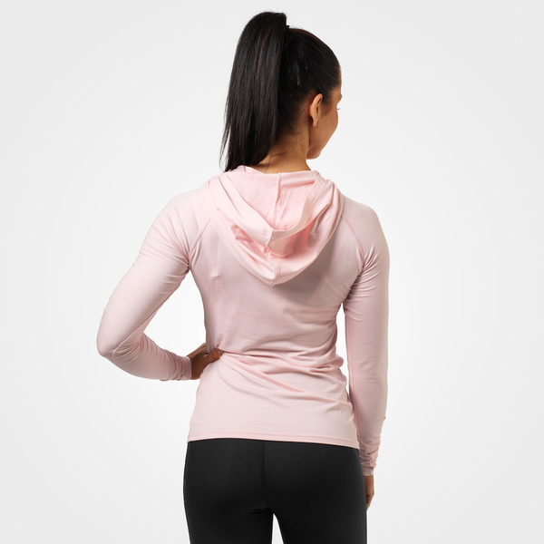 Better Bodies T-shirt Performance Long Sleeve Hood Pink Melange - 2
