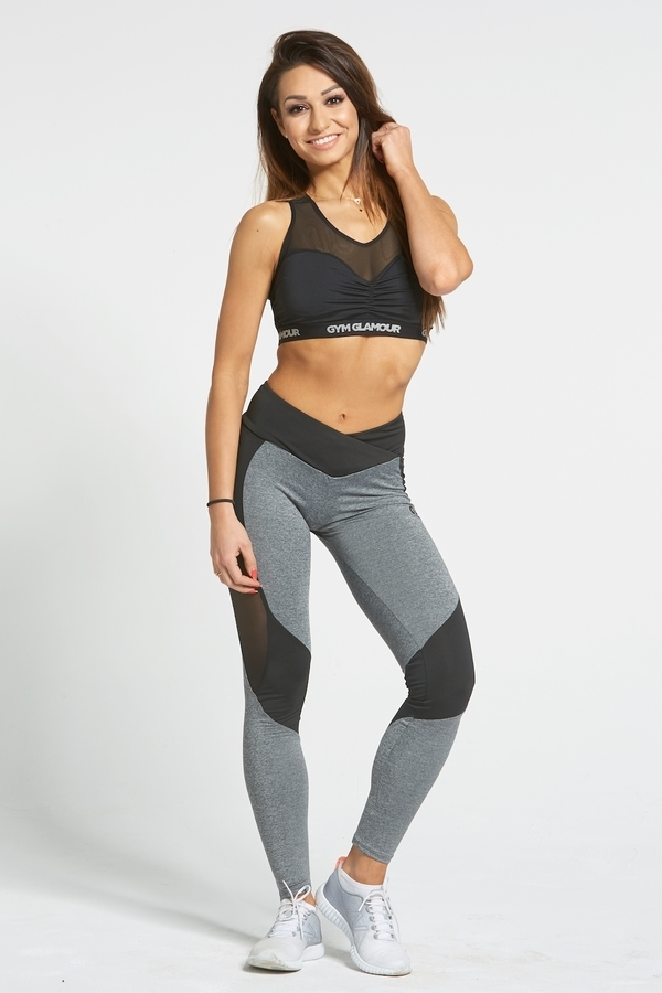 Gym Glamour Legíny Sexy Black And Grey - L, L - 2
