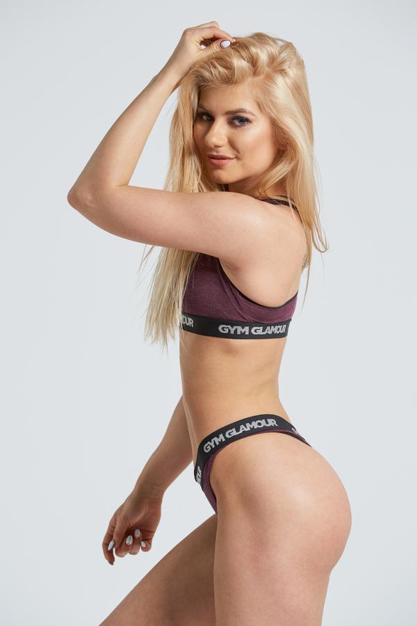 Gym Glamor Set Underwear Burgundy - 2
