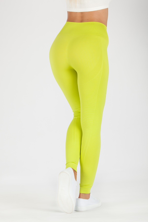 GoldBee Leggings BeSeamless Lime, XS - 2