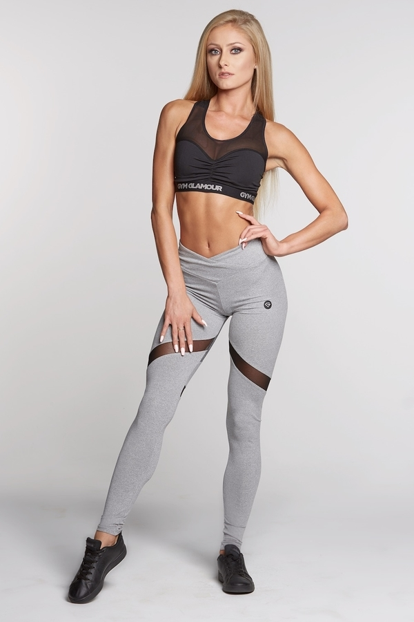 Gym Glamour Legíny Mixed Grey Heart - M, M - 2