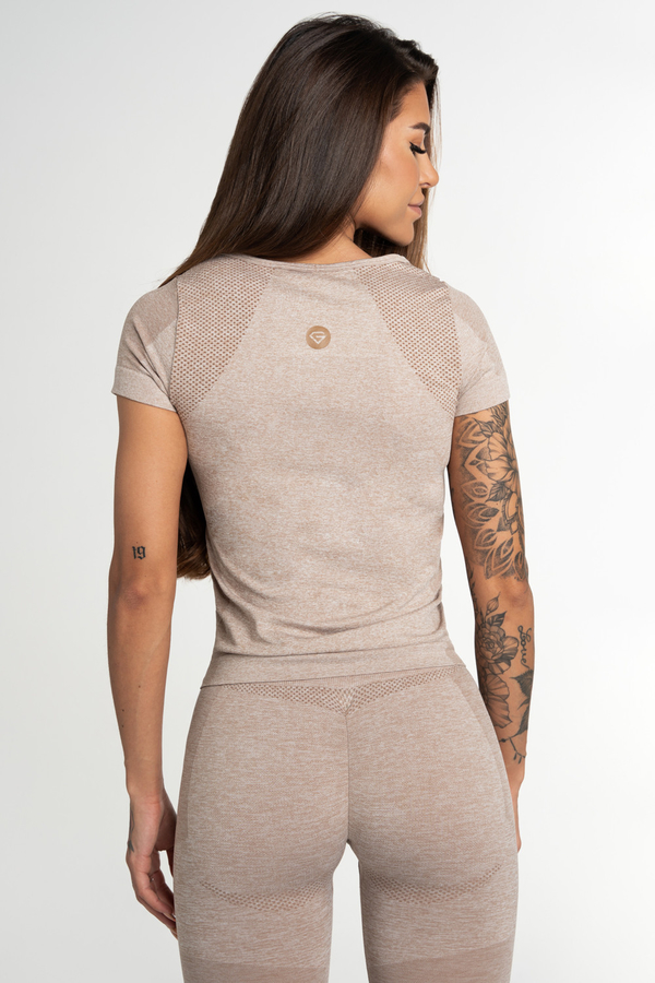 Gym Glamour T-Shirt Seamless Fusion Beige, L - 2