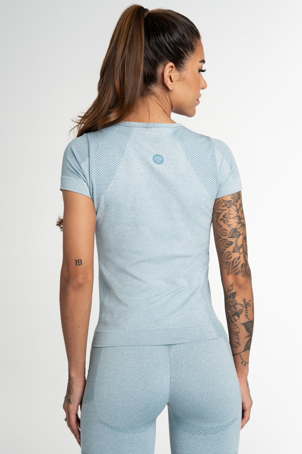 Gym Glamour T-Shirt Seamless Fusion Blue, S - 2