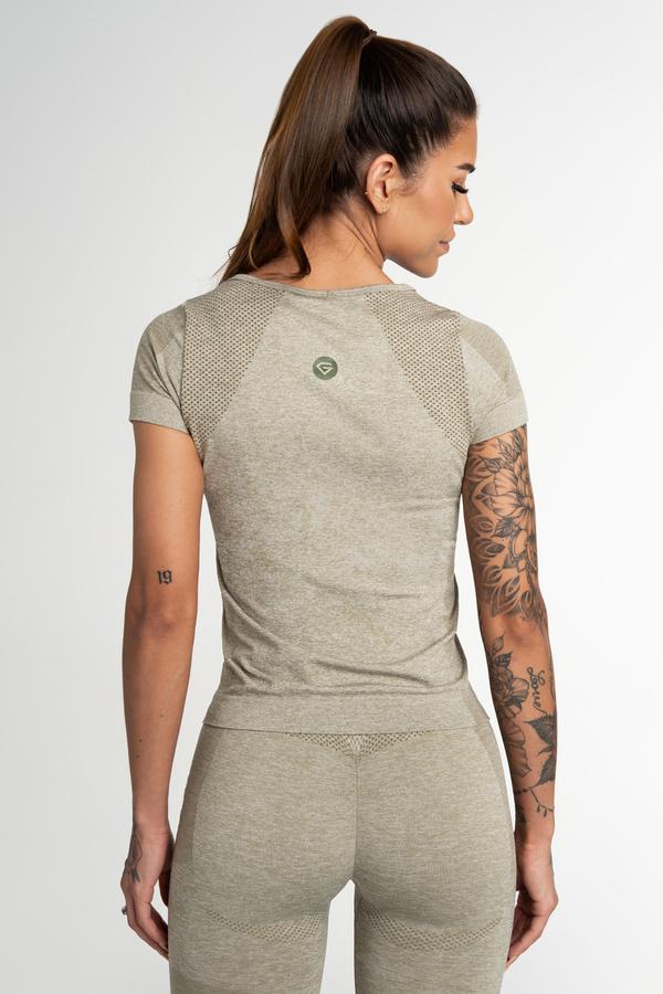 Gym Glamour T-Shirt Seamless Fusion Khaki, XS - 2