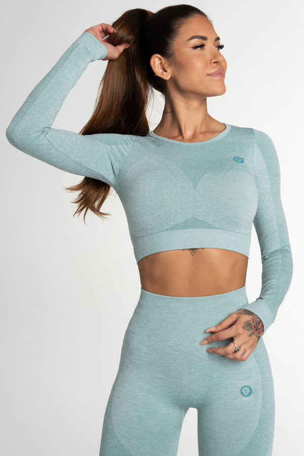Gym Glamour Crop Top Seamless Fusion Green, M - 2