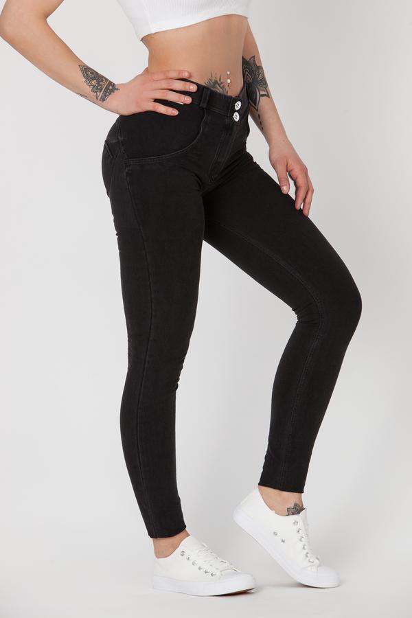 Boost Jeans Mid Waist Black Pre-Order  - 2