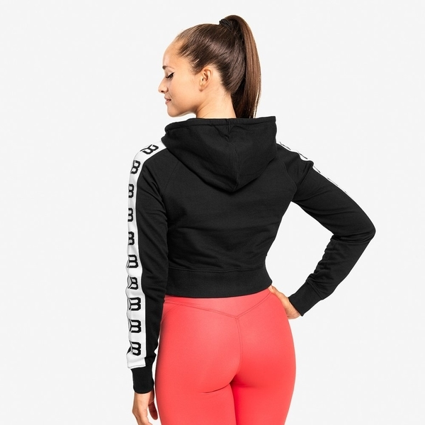 Better Bodies Crop Mikina Vesey Black - L, L - 2
