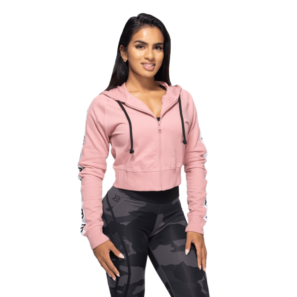 Better Bodies Cropped Hood Vesey Heather Pink - 2