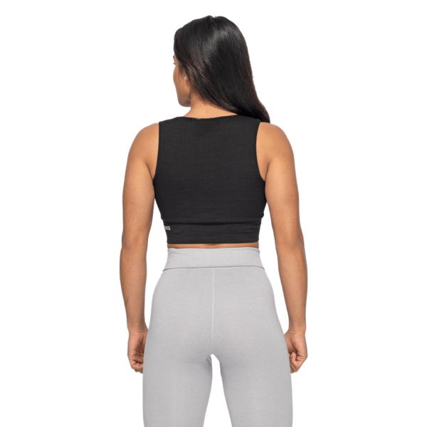 Better Bodies Top Rib Seamless Black Melange - 2